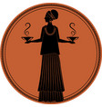 zodiac in the style of ancient greece libra woman vector image vector image