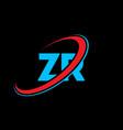 Zr z r letter logo design initial letter zr