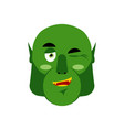 ogre winking emoji goblin happy emotion isolated vector image