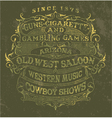 Old west style poster vector image