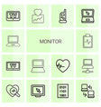 14 monitor icons vector image vector image