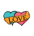 2 HEARTS LOVE vector image vector image