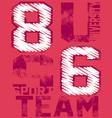 86 u team vector image vector image