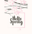 a gentle spring landscape with flowering tree vector image vector image