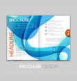 Abstract template brochure design with blue wave vector image