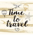 Abstract travel background vector image vector image