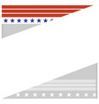 american abstract flag border vector image vector image