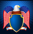 american eagle flag wing shield vector image vector image