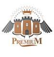 ancient citadel emblem heraldic design element