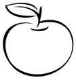 apple outline vector image vector image