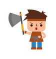 avatar of a video game warrior with ax