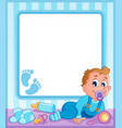 baby theme frame 1 vector image vector image