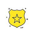 badge star icon design vector image