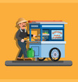 batagor is traditional street food from indonesia vector image vector image