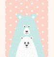 bear and little bear vector image vector image