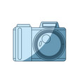 blue shading silhouette of photo camera vector image vector image