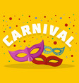 carnival logo flat style vector image vector image