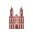 catholic church cathedral temple building vector image