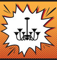 chandelier simple sign comics style icon vector image