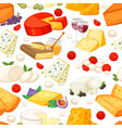 cheeses realistic composition with edam maasdam vector image vector image