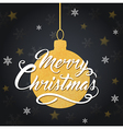 Christmas background with golden decoration vector image