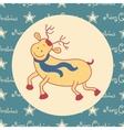 Christmas doodle deer vector image