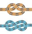 climbing rope knot symbols vector image vector image