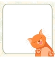 Cute romantic card with tender cat who kisses you vector image vector image