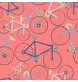 Decorative seamless pattern with racing bikes vector image