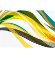 Elegant colorful wave stripes vector image vector image