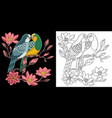 embroidery love birds design vector image vector image