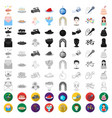 event organisation cartoon icons in set collection vector image vector image