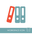 file folder outline icon workspace sign vector image vector image