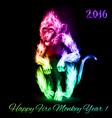 Fire monkey vector image