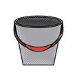 fishing bucket isolated icon vector image