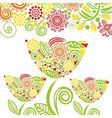 Floral nature pattern card vector image vector image