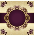 Floral round frame vector image vector image