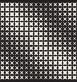 geometric seamless star shapes pattern halftone vector image vector image