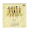 Girls retro calendar 2014 for your design vector image vector image