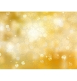 gold christmas background with snowflakes eps 8 vector image vector image