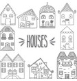 hand drawn houses vector image vector image