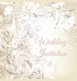 hand drawn wedding classic invitation design vector image vector image