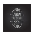 happy mother s day handlettering element on vector image
