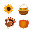 happy thanksgiving day design vector image vector image