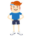 Hipster funny sportsman Flat style vector image vector image