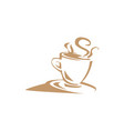 hot coffee image vector image