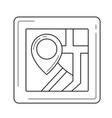 house location line icon vector image
