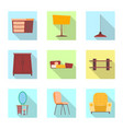 isolated object of furniture and apartment logo vector image