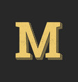 logo letter m gold vintage vector image