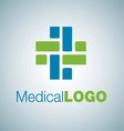medical logo 14 vector image vector image